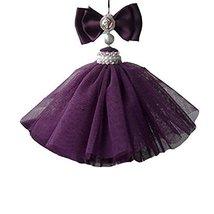 Lace Vintage Car Pendant Lovely Car Decoration--Art Car Charm (Purple Temptatio)