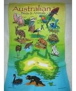 Australian Birds And Animals Cotton Tea Towel - $11.70