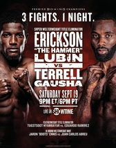 Erickson Lubin VS. Terrell Gausha Poster Super Welterweight Fight Event ... - $9.90+