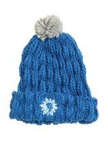 Disney Frozen Elsa Pom Beanie Knit Embroidered Snowflake Hat Cap - NWT - $8.05