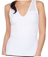 Sonic Slimmers by Kathleen Kirkwood Body/Bust Minimizing Tank, White, Small - $9.89