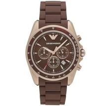 Emporio Armani AR6099 Sigma Brown Dial Men's Watch - $356.26