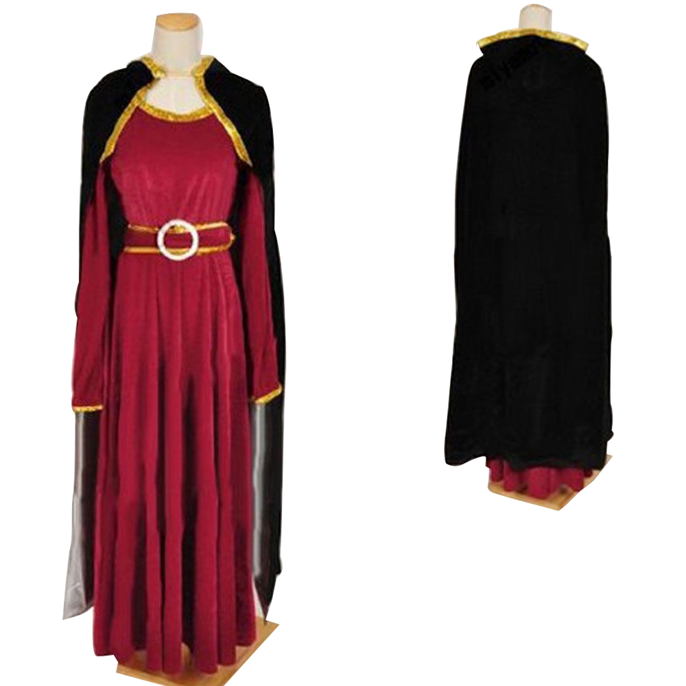 Rapunzel Tangled Princess witch Mother Gothel Dress Cosplay Costume