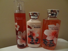 Bath & Body Works Set Of 3 Japanese Cherry Blossom Brand New Lotion Mist Gel - $29.99