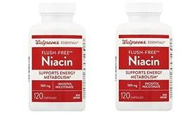 Walgreens Flush Free Niacin 120 Capsules(Pack of 2) Total 240 - $24.99