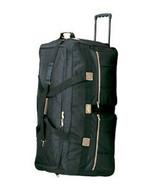 """36"""" Rolling Wheeled Duffel Bag 8396 Luggage Black Wheels Duffelbag Trave... - $53.95"""