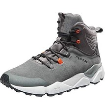 RAX Men's Leopord Serie Cushioning Leather Hiking BootsGrey,8 - $63.08