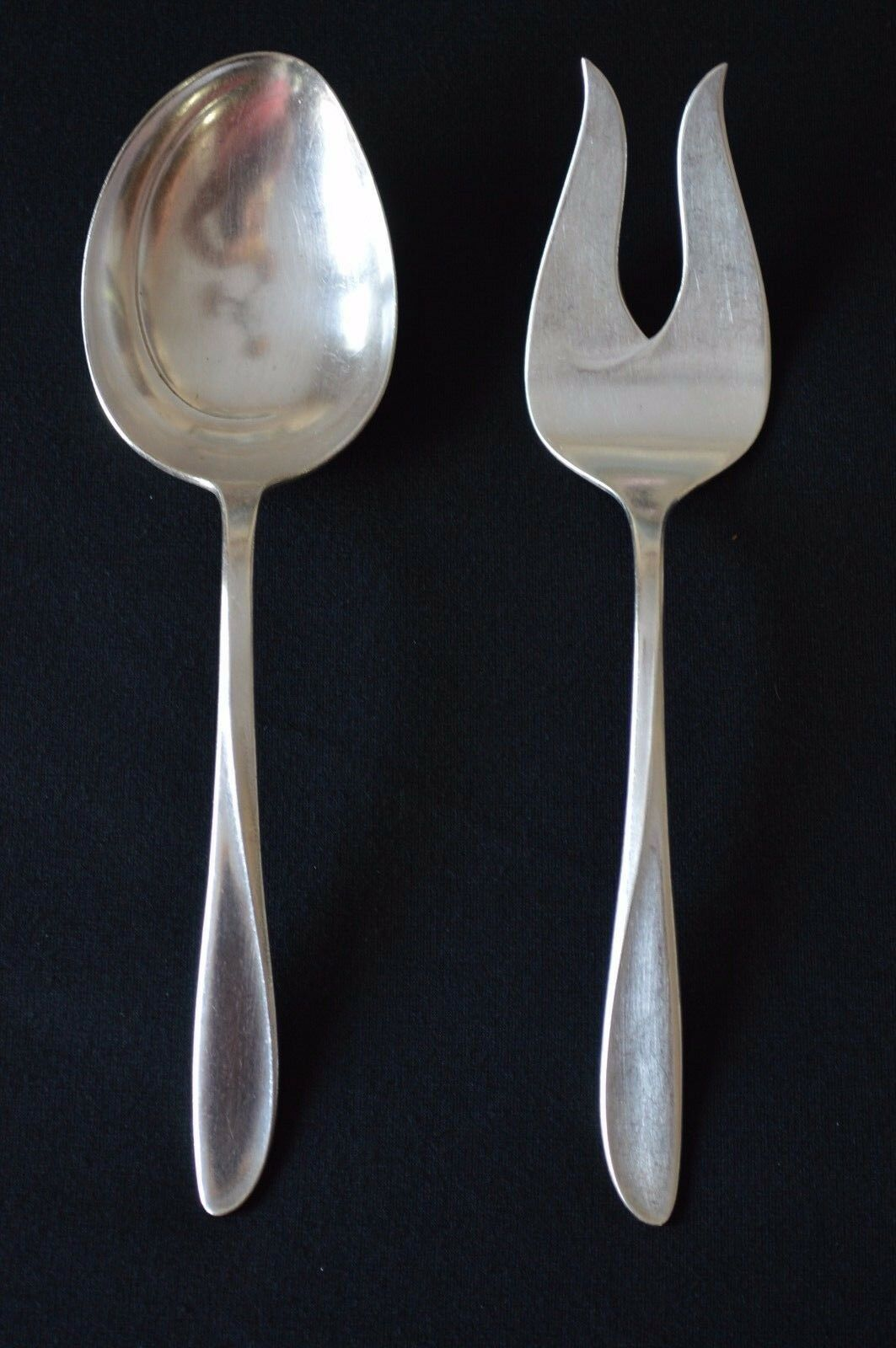 Primary image for Holmes & Edwards Pattern Rhythmic 1957 Serving Spoon & Meat/Serving Fork