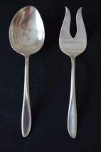 Holmes & Edwards Pattern Rhythmic 1957 Serving Spoon & Meat/Serving Fork - $9.90