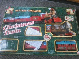 Eztec Battery Operated Santa Express 29 Piece Christmas Train Set Track ... - $34.27