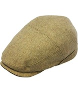Henschel Nubby Wool Blend Ivy League Cap Narrow VIsor Charcoal Brown Wheat - $49.00