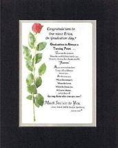 Personalized Touching and Heartfelt Poem for Graduations - Graduation is... - $19.75