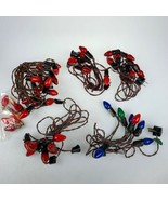 5 Vintage NOMA Gilbert other Christmas Lights w/ C7 Strings + Extra Bulbs  - $34.16