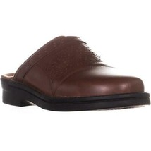 Clarks Patty Renata Flat Clogs, Dark Tan Leather, 8.5 US / 39.5 EU - $45.11