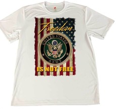 Freedom Isn't Free Army Wicking T-Shirt w American Flag Car Coaster - $14.80+