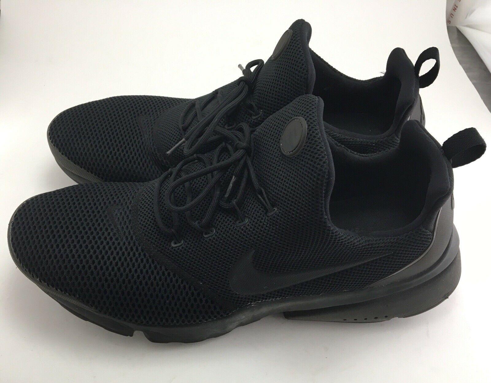 Nike 908019-001 Black Canvas Men's Sneaker Size 12 U.S. Comfort Slip on Lace up