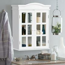 Wall Storage Cabinet Bathroom Medicine Organizer 2 Doors Display Shelves... - $120.26