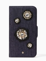 Kate Spade Denim Embellished iPhone X Folio Case