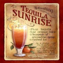 tequila sunrise recipe, coaster, made in uk drinks, plate  etc coaster