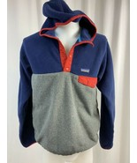 Vintage Patagonia Synchilla Snap-T, 2 Toned Fleece Hoodie, Men's M, Navy... - $94.99
