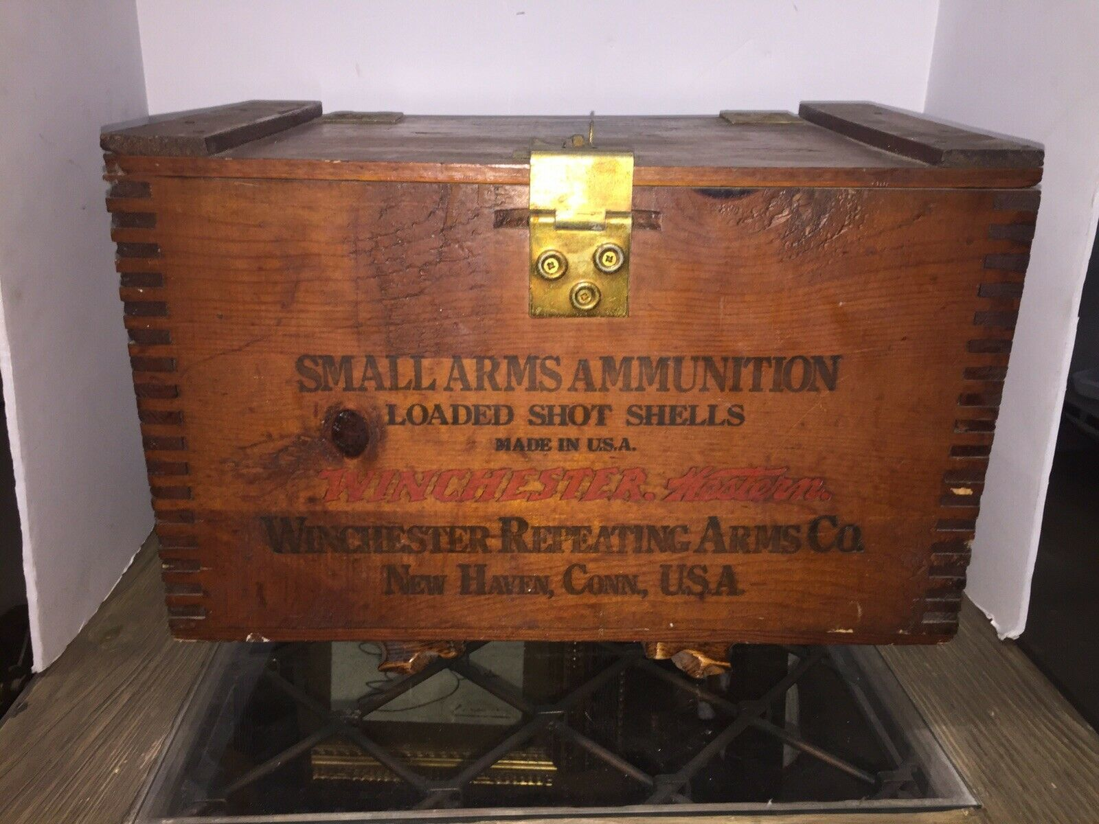 Antique Winchester Western Wood Ammo Crate And 22 Similar Items