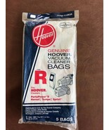 Genuine Hoover Vacuum cleaner Bag type R   #4010063R  5 pack  NEW! - $9.85