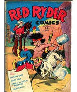 Red Ryder #28 1945-Dell-King of The Royal Mounted-Fred Harmon art-WWII-G+ - $60.53