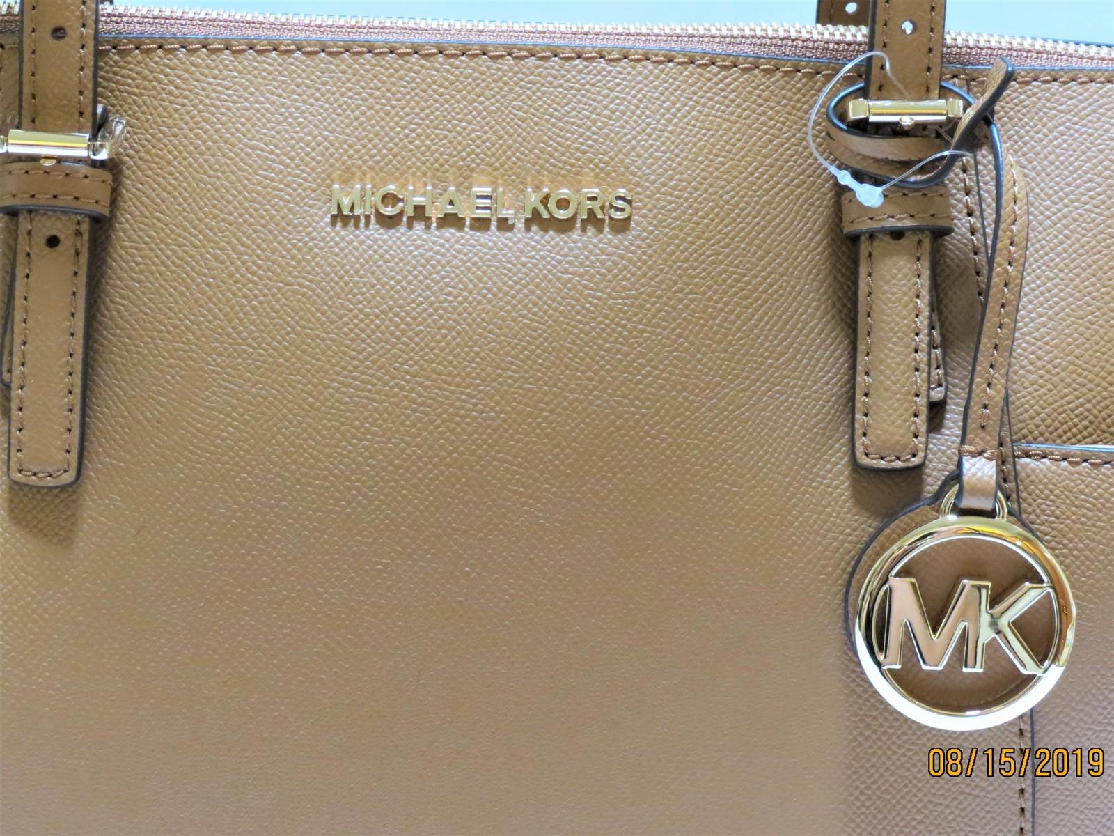 Michael Kors tan  leather Tote Handbag Brand New