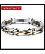 Stainless steel link bracelet - $13.00