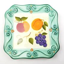 "Tabletops Unlimited Medici 1 Dessert Pie/Salad Plate Green Fruit Scrolls 8"" - $11.36"