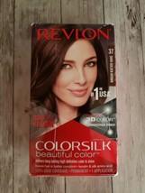 Revlon ~ ColorSilk ~ Beautiful Color ~ 37 Dark Golden Brown ~ Hair Dye ~... - $11.88