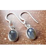 Small Labradorite Oval Ellipse 925 Sterling Silver Dangle Earrings New 760p - $11.87