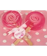 50 Pink or Blue Boy Girl Lollipop Soap Birthday Baby Shower Favor Thank ... - €59,92 EUR
