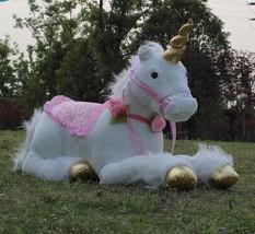 Plush Toy Stuffed Animal 85cm White Unicorn Giant Soft Kids Toy Doll Home Decor - $76.22