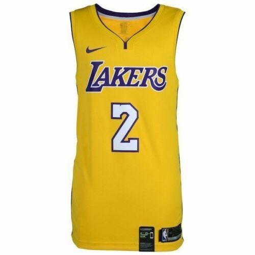 50fb1304 Lonzo Ball Los Angeles Lakers Signed Nike Gold Swingman Jersey Fanatics.