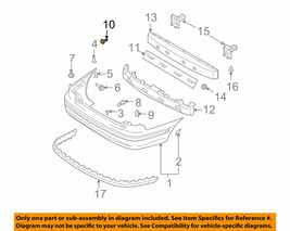 1244205203 10 pcs HYUNDAI OEM 01-06 Elantra Rear Bumper-Upper Bracket 10 Screws - $7.18