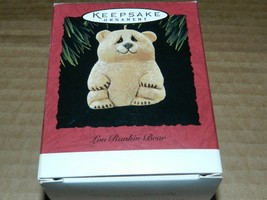 1995 HALLMARK KEEPSAKE ORNAMENT LOU RANKIN BEAR - $3.16