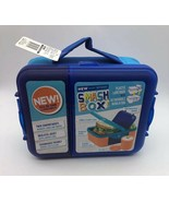 NEW Smash All-In -One Insulated Lunch Box Bento Box with Container BLUE ... - $16.65