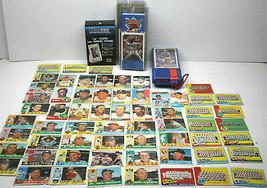 Vintage Baseball Lot 62 Topps Baseball Cards+Lucite Holder+Sportstalk El... - $46.74