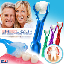 4-PK | DenTrust Periocare 3-Sided Toothbrush | Easily Prevent Gum Disease | USA - $18.95