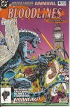 Dc Justice League International Annual #4 Lionheart Bloodlines Outbreak - $3.95