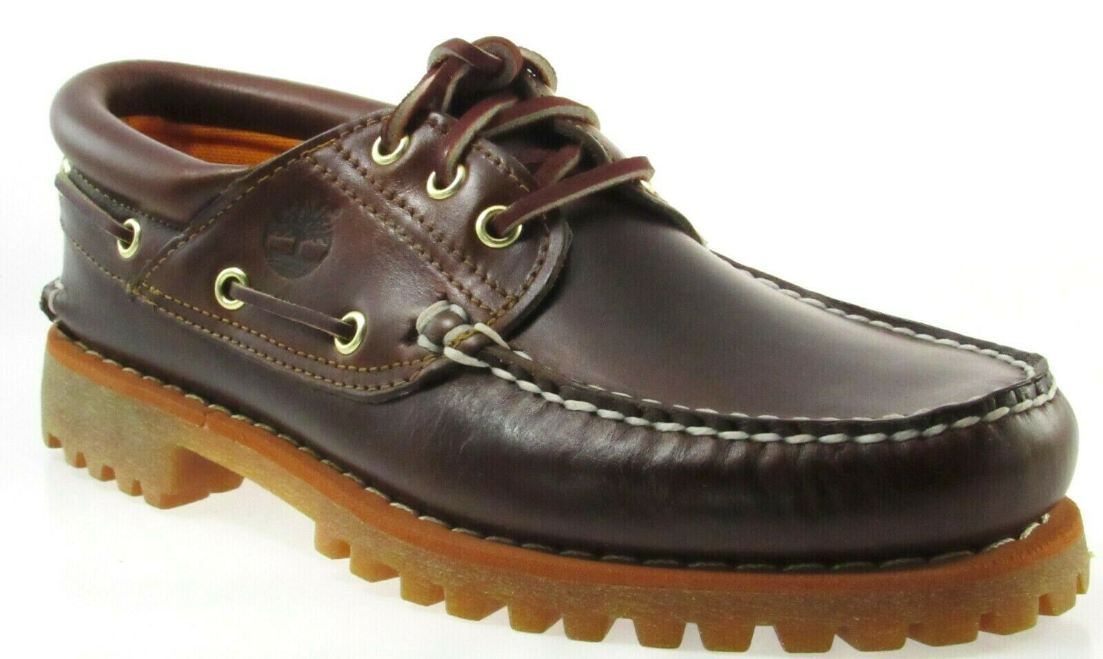 Primary image for TIMBERLAND 6500A TFO CLASSIC 3 EYE LUG MEN'S BROWN LEATHER BOAT SHOES