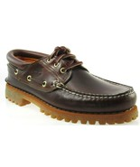 TIMBERLAND 6500A TFO CLASSIC 3 EYE LUG MEN'S BROWN LEATHER BOAT SHOES  - $79.19