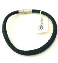Brighton Coachella Navy Leather Bracelet, Size M, New - $28.49