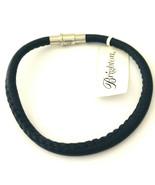 Brighton Coachella Navy Leather Bracelet, Size M, New - $28.49