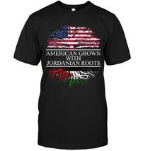 Jordanian Roots American Grown flag of Jordan Shirt - $17.99+