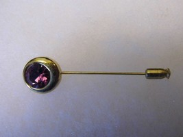 Vintage Purple Gem Gold Tone Pin Costume Fashion Jewelry - $9.66