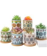 Succulent Plant Pots - 3.2 inch Ceramic Succulent Planter - Cylinder Flo... - $52.99