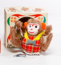 1950s Japan Windup Yone Tumbling Monkey in Box - $25.95