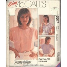 McCall's Pattern 3517 Miss Top Blouse Sz 16, 18, 20 Pull Over Sleeveless... - $5.50